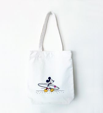 SURF MICKEY FLAT TOTE BAG Let's surf ミッキー