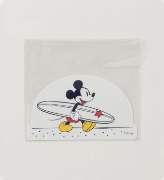 SURF MICKEY STICKER Let's surf ミッキー