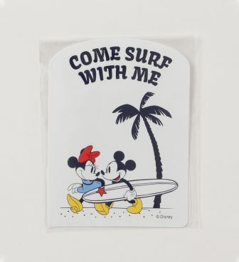 SURF MICKEY STICKER COME SURF WITH ME ミッキー&ミニー