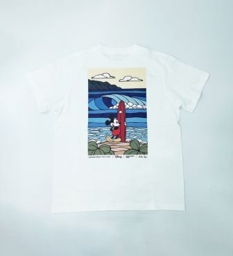 【SURF MICKEY COLLECTION / Heather Brown】T-SHIRT / BORN TO SURF