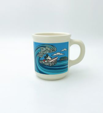 【SURF MICKEY COLLECTION / Heather Brown】MUG / WAVE RIDER