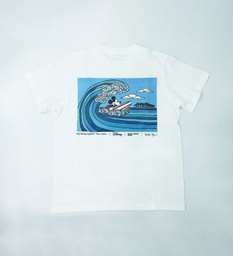 【SURF MICKEY COLLECTION / Heather Brown】T-SHIRT / WAVE RIDER