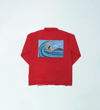 【SURF MICKEY COLLECTION / Heather Brown】COACH JACKET / WAVE RIDER