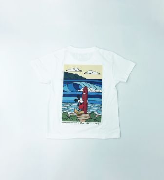 【SURF MICKEY COLLECTION / Heather Brown】T-SHIRT KIDS / BORN TO SURF