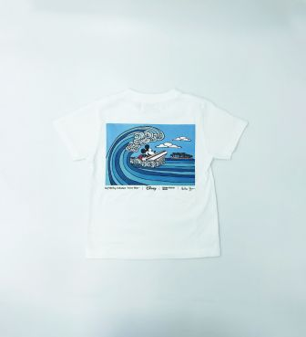【SURF MICKEY COLLECTION / Heather Brown】T-SHIRT KIDS / WAVE RIDER