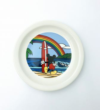 【SURF MICKEY COLLECTION / Heather Brown】PLATE(L) / RAINBOW