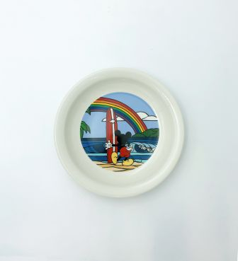 【SURF MICKEY COLLECTION / Heather Brown】PLATE(S) / RAINBOW