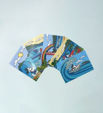 【SURF MICKEY COLLECTION / Heather Brown】POST CARD SET