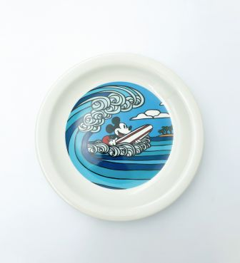 【SURF MICKEY COLLECTION / Heather Brown】PLATE(L) / WAVE RIDER
