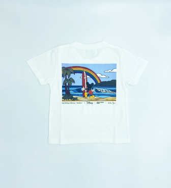 【SURF MICKEY COLLECTION / Heather Brown 】T-SHIRT KIDS / RAINBOW