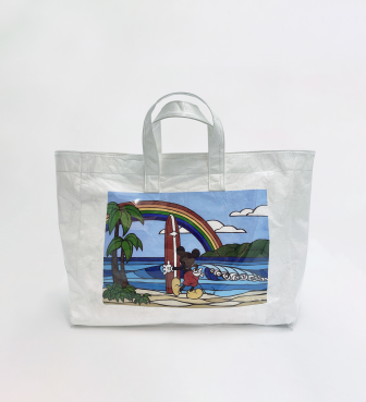 【SURF MICKEY COLLECTION / Heather Brown 】TOTE BAG / RAINBOW