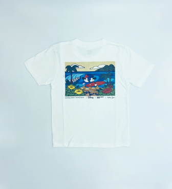 【SURF MICKEY COLLECTION / Heather Brown 】T-SHIRT KIDS / COME SURF WITH ME