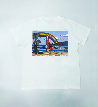 【SURF MICKEY COLLECTION / Heather Brown 】T-SHIRT / RAINBOW
