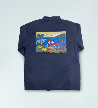 【SURF MICKEY COLLECTION / Heather Brown】COACH JACKET / COME SURF WITH ME