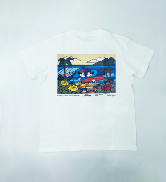 【SURF MICKEY COLLECTION / Heather Brown 】T-SHIRT / COME SURF WITH ME