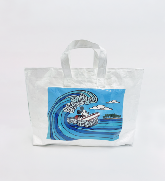 【SURF MICKEY COLLECTION / Heather Brown 】TOTE BAG / WAVE RIDER