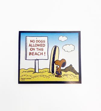 【SURF'S UP PEANUTS】ポストイット / NO DOGS