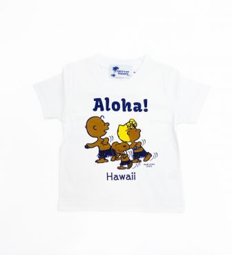 【SURF'S UP PEANUTS】Tシャツ キッズ / ALOHA-BLUE