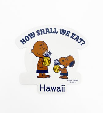 【SURF'S UP PEANUTS】ステッカー / HOW SHALL WE EAT?