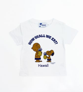 【SURF'S UP PEANUTS】Tシャツ キッズ / HOW SHALL WE EAT?