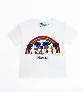 【SURF'S UP PEANUTS】Tシャツ キッズ / RAINBOW