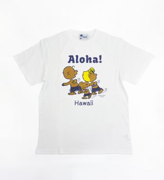 【SURF'S UP PEANUTS】Tシャツ / ALOHA-BLUE