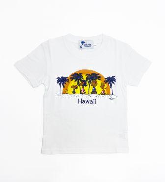 【SURF'S UP PEANUTS】Tシャツ キッズ / SUNSET RAINBOW