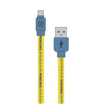 怪盗グルーシリーズ(ミニオンズ) Lightning対応 同期&充電ケーブル Gロゴ GOUR