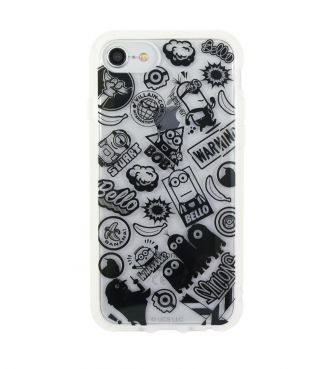 怪盗グルーシリーズ ミニオンズ IIII fit Clear iPhoneSE(第2世代)/8/7/6s/6対応ケース ブラック GOUR