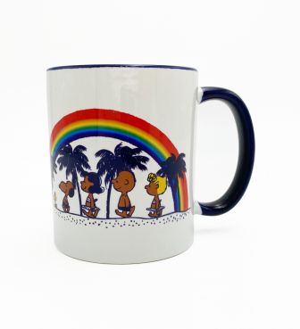 【SURF'S UP PEANUTS】MUG CUP / RAINBOW