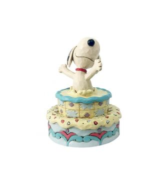 【JIM SHORE】スヌーピー サプライズ バースデーケーキ