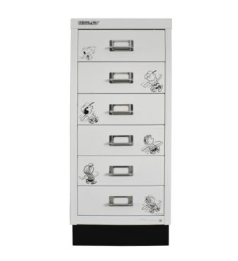 <BISLEY>6 STAGE A4 CABINET / BASEBALL SNOOPY & CHARIE・BROWN / WHITE