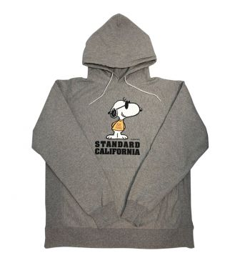 <STANDARD CALIFORNIA>SNOOPY HOODED SWEATSHIRT /GRAY