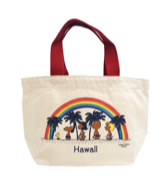 【SURF'S UP PEANUTS】TOTE BAG MINI / RAINBOW