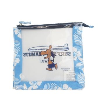 【SURF'S UP PEANUTS】CLEAR POUCH 【HIBISCUS】/ SURF'S UP