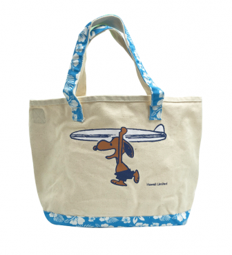 【SURF'S UP PEANUTS】TOTE BAG (L)【HIBISCUS】/ SURF'S UP