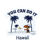 【SURF'S UP PEANUTS】STICKER / YOU CAN DO IT