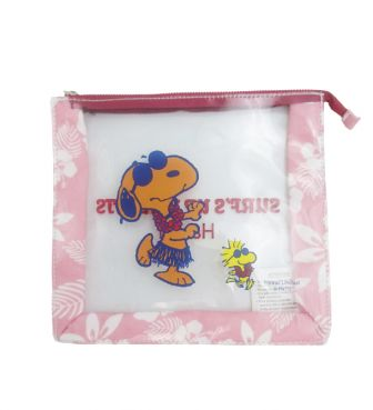 【SURF'S UP PEANUTS】CLEAR POUCH 【HIBISCUS】/ HULA DANCERS