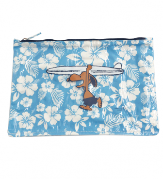 【SURF'S UP PEANUTS】FLAT PVC POUCH (L)【HIBISCUS】/ SURF'S UP