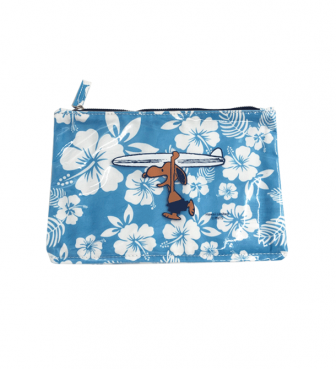 【SURF'S UP PEANUTS】FLAT PVC POUCH (S)【HIBISCUS】/ SURF'S UP