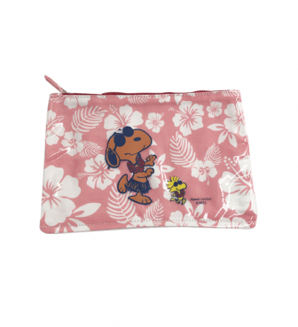 【SURF'S UP PEANUTS】FLAT PVC POUCH (S)【HIBISCUS】/ HULA DANCERS