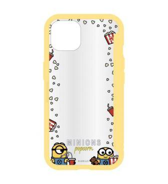 ミニオン SHOWCASE+ 2021 iPhone 6.1 inch_2LENS model 対応ケース ポップコーン GOUR